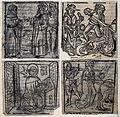 Four separate scenes; Saint Thomas Aquinas (?), Saint Antony Wellcome V0033257.jpg