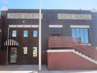 Fowler, Colorado - Image: Fowler, CO, Fire Dept. and City Hall IMG 5644