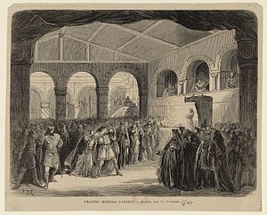 Macbeth (opera) - Illustration by Frédéric Lix of the 1865 version's première