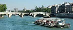 The Seine flowing under Pont Royal in central Paris.