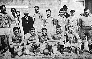 Football at the 1924 Summer Olympics - The French squad, eliminated by Uruguay.