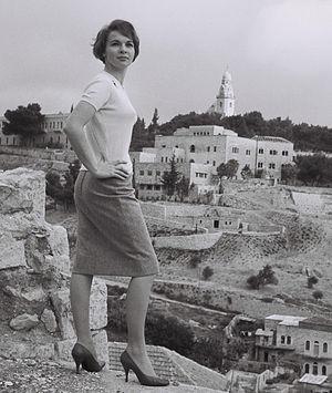 Françoise Arnoul - During a visit to Jerusalem, 1958