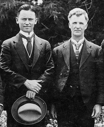 Scullin with his future deputy Frank Forde. Frank Forde and James Scullin.jpg