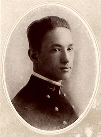 Frank Wead - Twenty-year-old Midshipman Frank Wilbur Wead, Class of 1916 yearbook photograph taken by the United States Naval Academy photographer.