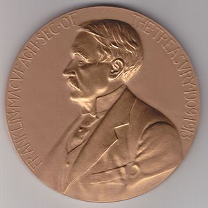 Franklin MacVeagh - Franklin MacVeagh brown medal by George Morgan, (c. 1910).