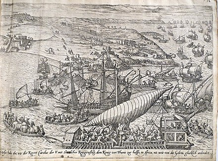 Conquest of Tunis by Charles V and liberation of Christian galley slaves in 1535 Frans Hogenberg battle of Tunis.jpg