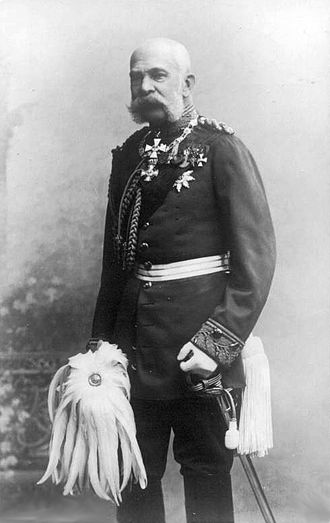 Order of the Black Eagle - Emperor Franz Josef I of Austria-Hungary, wearing the uniform of a Prussian field marshal and the sash and star of the Order of the Black Eagle, ca. 1900