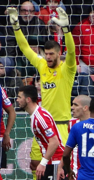 Fraser Forster - Forster playing for Southampton in 2016