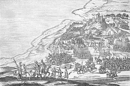1563 marks the start of the Northern Seven Years' War Fredrik II conqueres Alvsborg 1563.jpg