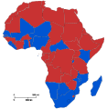 Freedom House electoral democracies in the African Union.svg