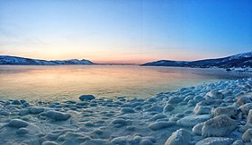 Freezing the waters of the Sea of Okhotsk. Magadan.jpg