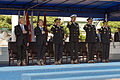 From left, U.S. Secretary of Defense Chuck Hagel; South Korean Minister of Defense Kim Kwan-jin; Chairman of the Joint Chiefs of Staff U.S. Army Gen. Martin E. Dempsey; U.S. Navy Adm. Samuel J. Locklear III 131002-D-KC128-338.jpg