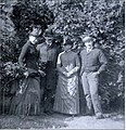 From left to right, Katharine Peabody, William Caleb, Louisa Putnam and Augustus Peabody Loring.jpg