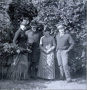 Katharine Peabody Loring - From left to right: Katharine Peabody, William Caleb, Louisa Putnam and Augustus Peabody Loring.