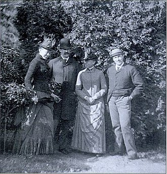 Katharine Peabody Loring - From left to right: Katharine Peabody, William Caleb, Louisa Putnam and Augustus Peabody Loring.