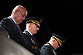 From the felt, Retired U.S. Army Gen. Gordon R. Sullivan, left, a former chief of staff of the Army, Lt. Gen. Robert P. Lennox and Gen. John F. Campbell, Vice Chief of Staff of the Army, stand on stage during 140117-D-KC128-111.jpg