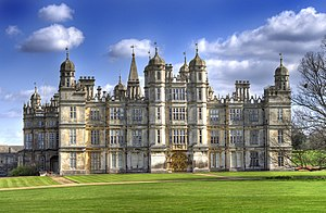 Burghley House - The façade of Burghley House