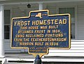Frost Homestead Marker. This marker is in front of the Frost Homestead.jpg