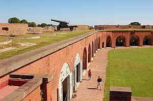 Fort Pulaski National Monument - Image: Ft Pulaski Inside