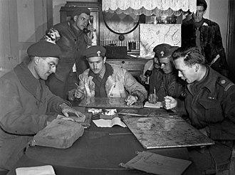Les Fusiliers Mont-Royal - Tactical Headquarters of Les Fusiliers Mont-Royal, Munderloh, Germany, April 29, 1945