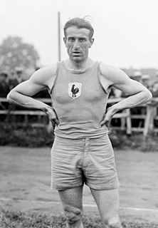 Géo André French high jumper, hurdler and rugby union player