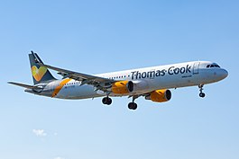Airbus A321-211 van Thomas Cook Airlines