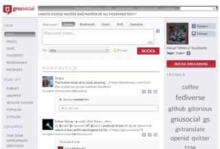GNU social free and open source software microblogging server