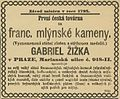 Gabriel Zizka reklama 1883.jpg