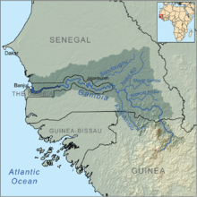 Gambia On Africa Map.Gambia River Wikipedia