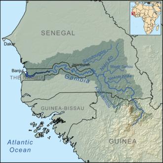 Gambia River - Image: Gambiarivermap