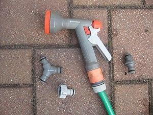 Hose coupling - Hozelock-compatible garden hose couplers (Gardena brand)