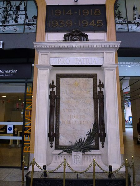 Gare St.Lazare, Paris, War memorial