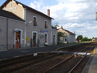 Bussière-Galant - The railway station in Bussière-Galant