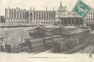 Chemins de fer de l'Ouest - St Germain en Laye train station. The station is now underground.