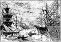 Garibaldi pendant son exil à Marseille, après l'affaire de Saint-Julien, sauve un jeune homme qui se noyait dans le port.jpg