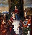 Garofalo, madonna in trono tra i ss. maurelio, silvestro, girolamo e il battista, 1524, 02.jpg