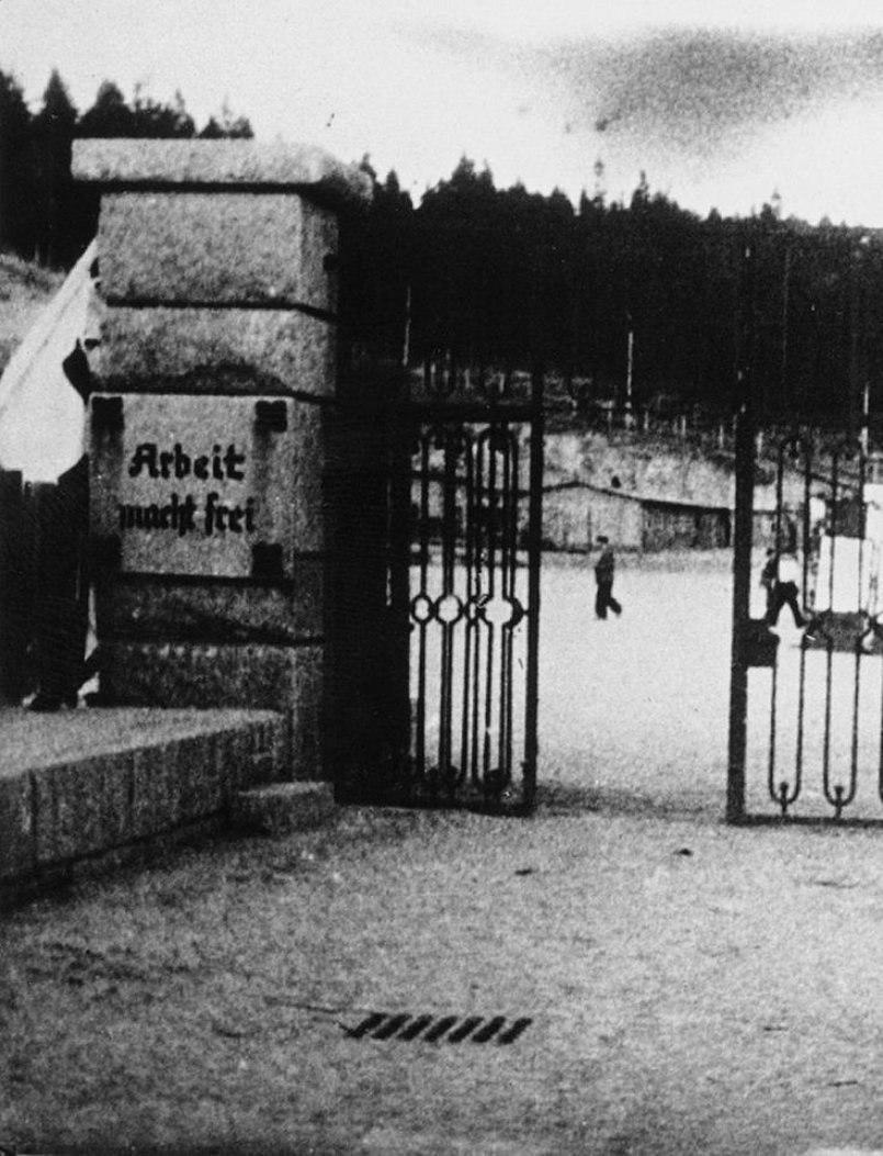 Gate of Flossenbürg concentration camp