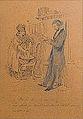 Gavarni Paul - Ink and Pencil - Les époux - 15x21cm.jpg