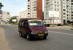 A routit taxi in Gus-Khrustalny