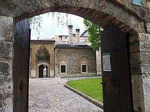 University of Sarajevo - Main gate of Gazi Husrev-bey's Madrasa, Library, Hanikah & Museum Complex, built in 1537 at Baščaršija.