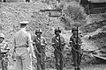 Generaal Doorman inspecteert een KNIL erewacht in een buitenpost, Bestanddeelnr 59-3-6.jpg