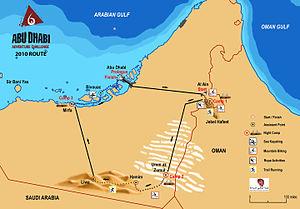 Abu Dhabi Adventure Challenge - Map ADAC 2010