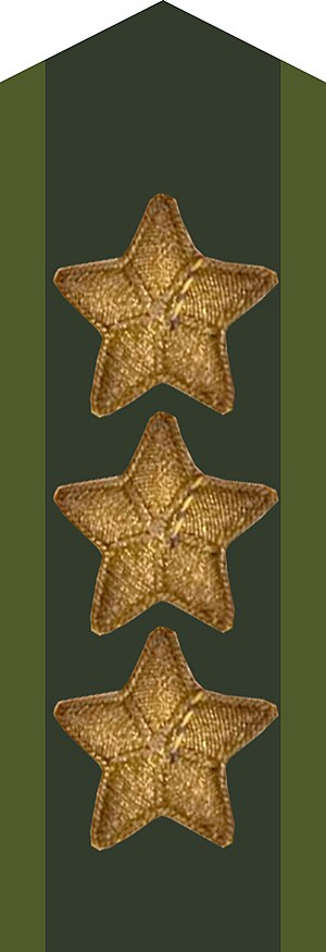 Military ranks of the Swedish Armed Forces - Image: General kragspegel m 58 stjärna m 39