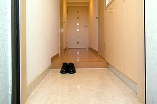 <i>Genkan</i> Entryway area in Japanese buildings