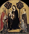 Gentile da Fabriano - Virgin and Child with Sts Nicholas and Cathrine - WGA08557.jpg