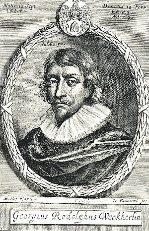 Georg Rudolf Weckherlin - Georg Rudolf Weckherlin.