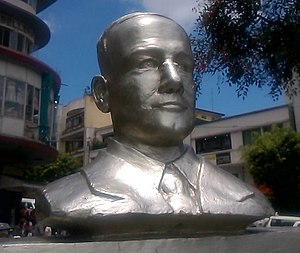 Bust of George Malcolm in Baguio City GeorgeAMalcolm-bust-2017.jpg