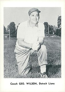 George Wilson (American football coach) American football coach