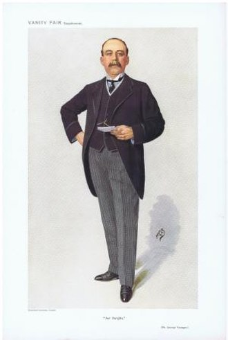"""George Younger, 1st Viscount Younger of Leckie - George Younger caricatured by """"HCO"""" in Vanity Fair, 1910"""