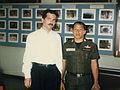 Gerald Posner with Thai police Bangkok 1987.jpg